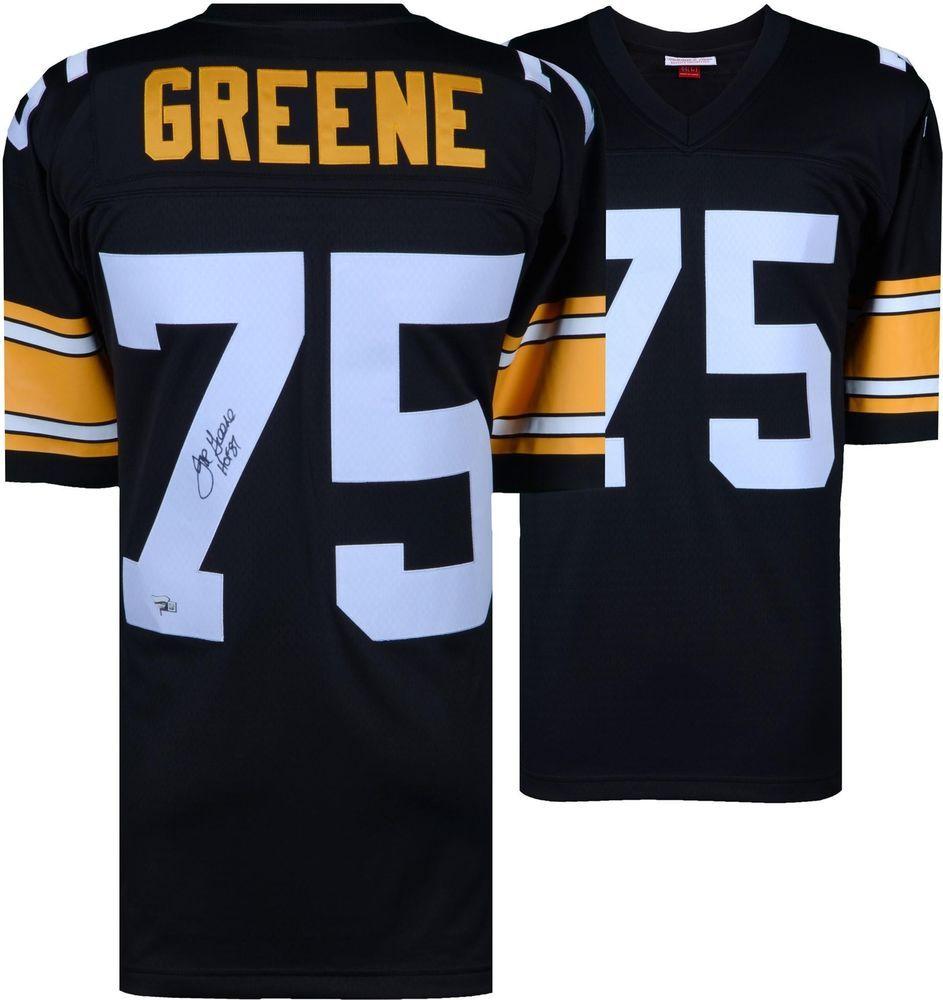 30f522f67 Joe Greene Pittsburgh Steelers Signed M N Black Jersey   HOF 87 Insc -  Fanatics