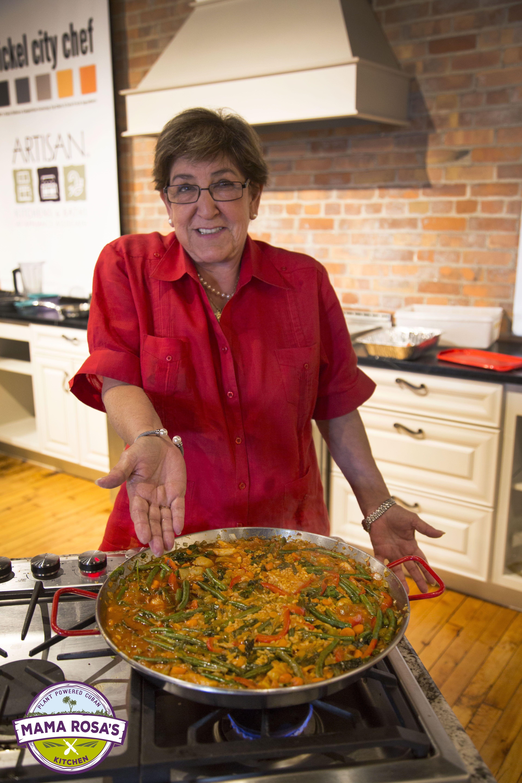 Mama Rosa in the Kitchen making her vegan Paella! | Mama Rosa\'s ...