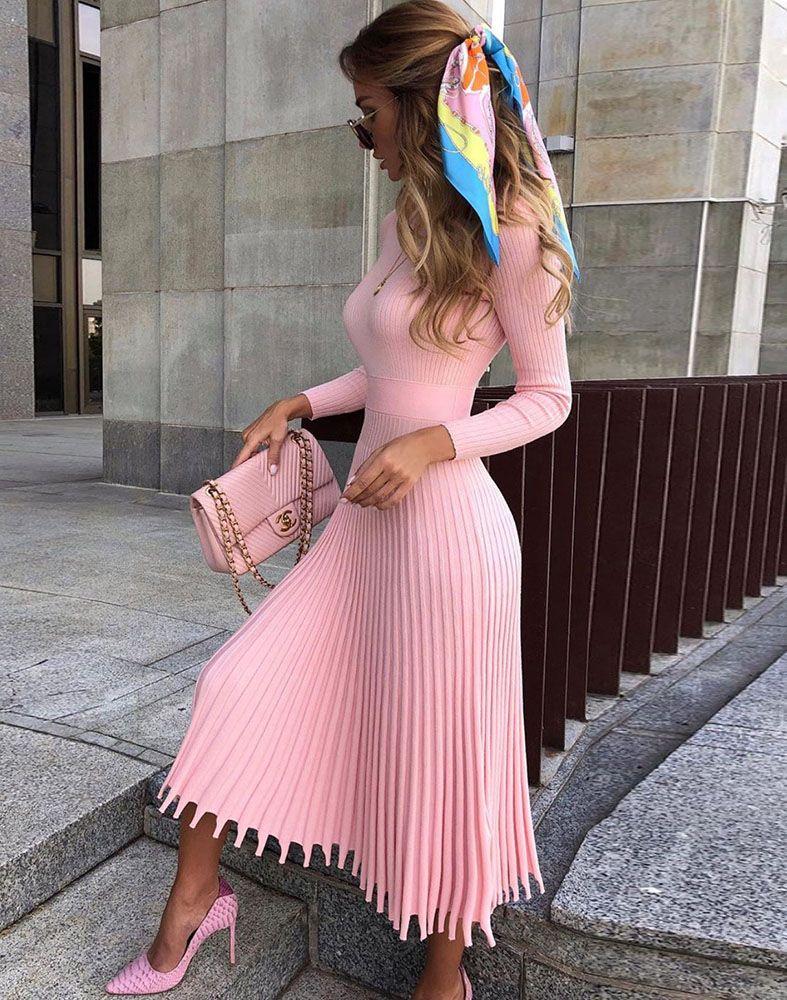 Folded Knit Dress