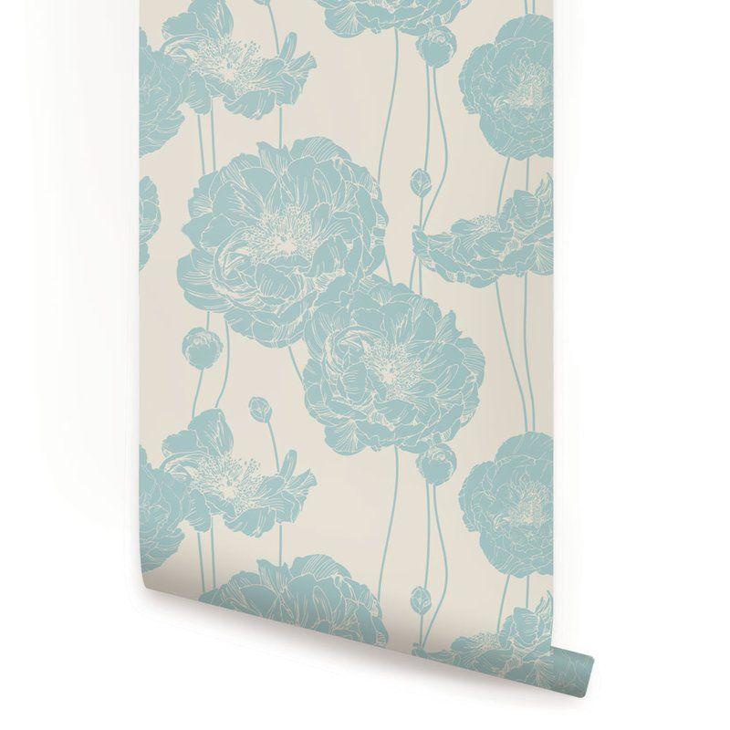 Mullen Peony Peel and Stick Wallpaper Panel Peony