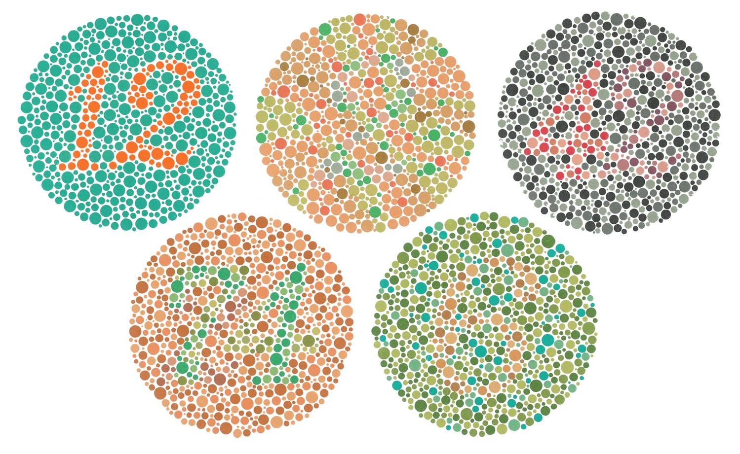 Tshirt design hide something as a ishihara color vision test