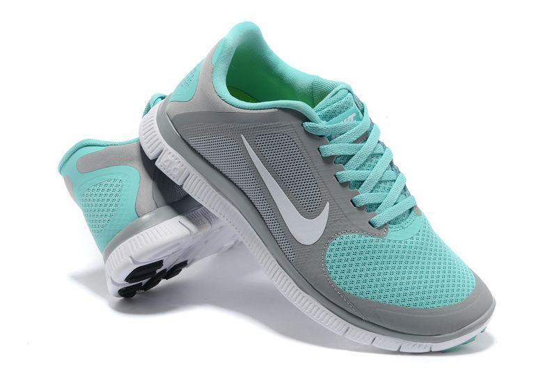 Aqua Nike Free Runners Gris