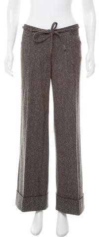 Dolce & Gabbana Mid-Rise Tweed Pants
