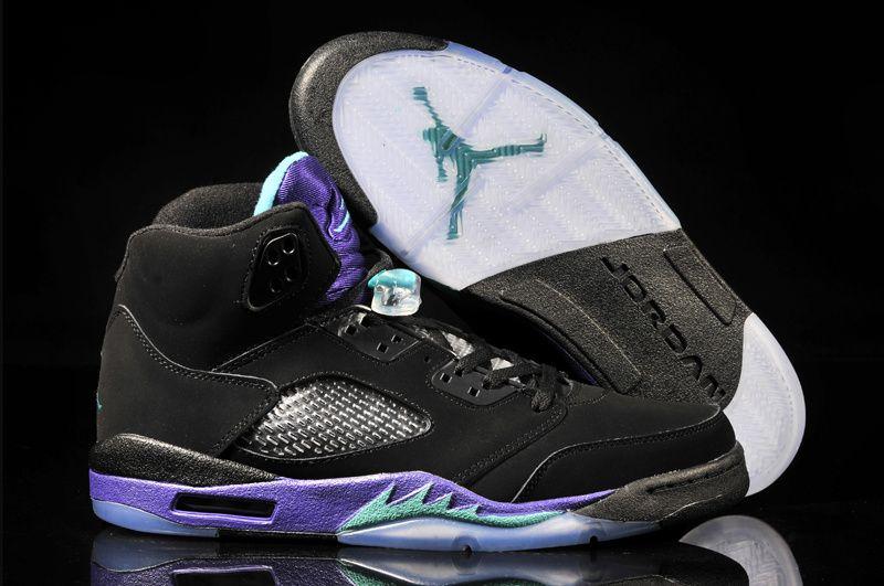Air Jordan 5 Black And Purple