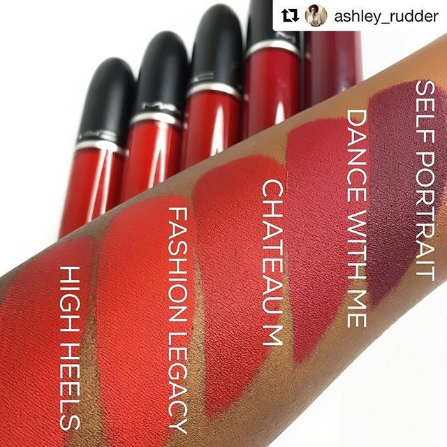 Yas To These New Red Maccosmetics Retro Matte Liquid Lippie Swatches By Ashley Rudder Do We Love More Deets Below Lipstick Tutorial Swatch Makeup Swatches
