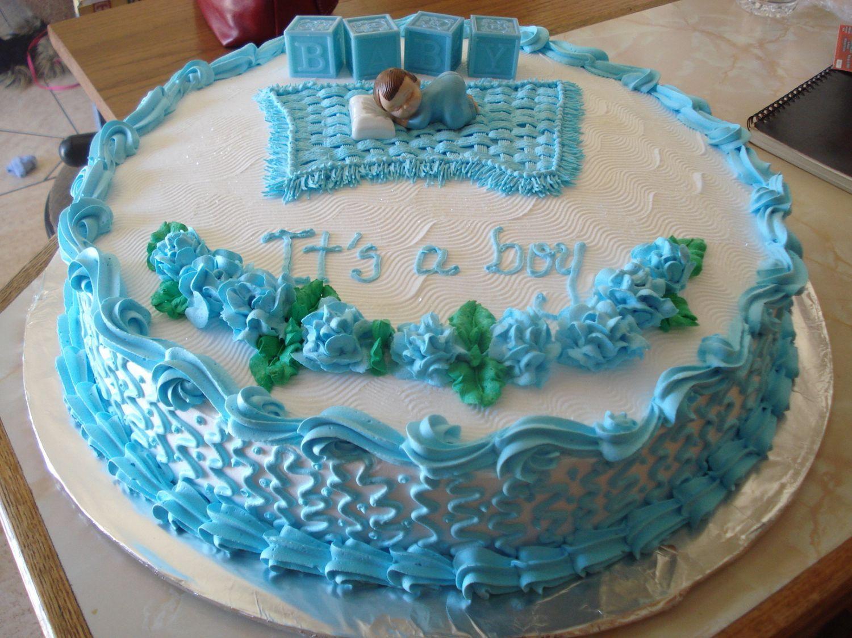 Cake Para Baby Shower, Sabor Tres Leches Con Durazno Y Nuez. Decoración ...