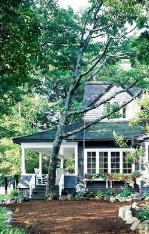 Lovely Navy Blue Cottage In The Woods By Noelle