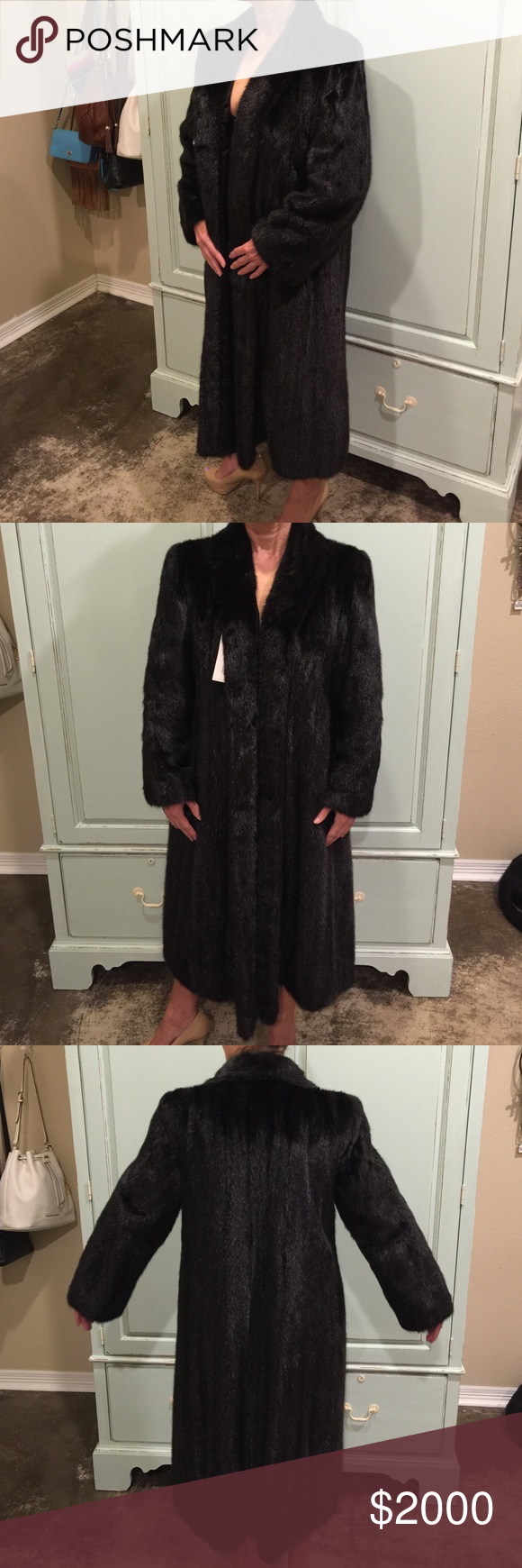 """*SALE* Mink Coat Female Pelts Med. Lighter weight Mink Coat with Female Pelts, Custom made in Hong Kong, Lighter Weight and Soft, in Great Condition and is stored each year, 42"""" Long, 17"""" Across Shoulder, Arm Length inside 15"""" and outside Arm 22"""", Mink is the #1 Seller Fur in the World.  It is absolutely beautiful !!!  Great Purchase!!! Jackets & Coats"""