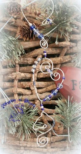 ~Wired Whinnies SunJewels ~ by Rhythm-n-Beads TM are whimsical wire horse Suncatchers....lovingly hand fashioned from copper wire and accented with beads & charms. Hang your 'wired whinnies' ... * in a window *from a rear view mirror * from a lamp * in the tack room * on the Christmas tree or a wreath during the holidays, or......the possibilities are endless :) Wire Horse Suncatchers, Rearview Mirror Dangles, Horse Ornaments