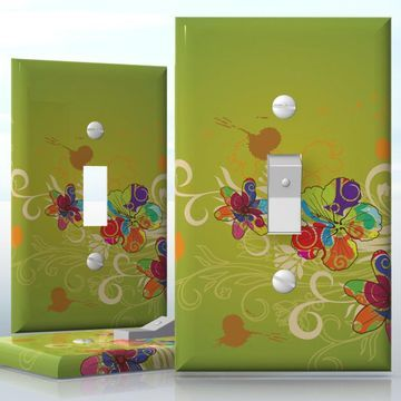 diy do it yourself home decor easy to apply wall plate wraps rainbow opening