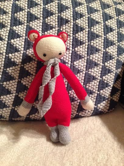 BINA the bear made by Ashley G. / crochet patterns by lalylala