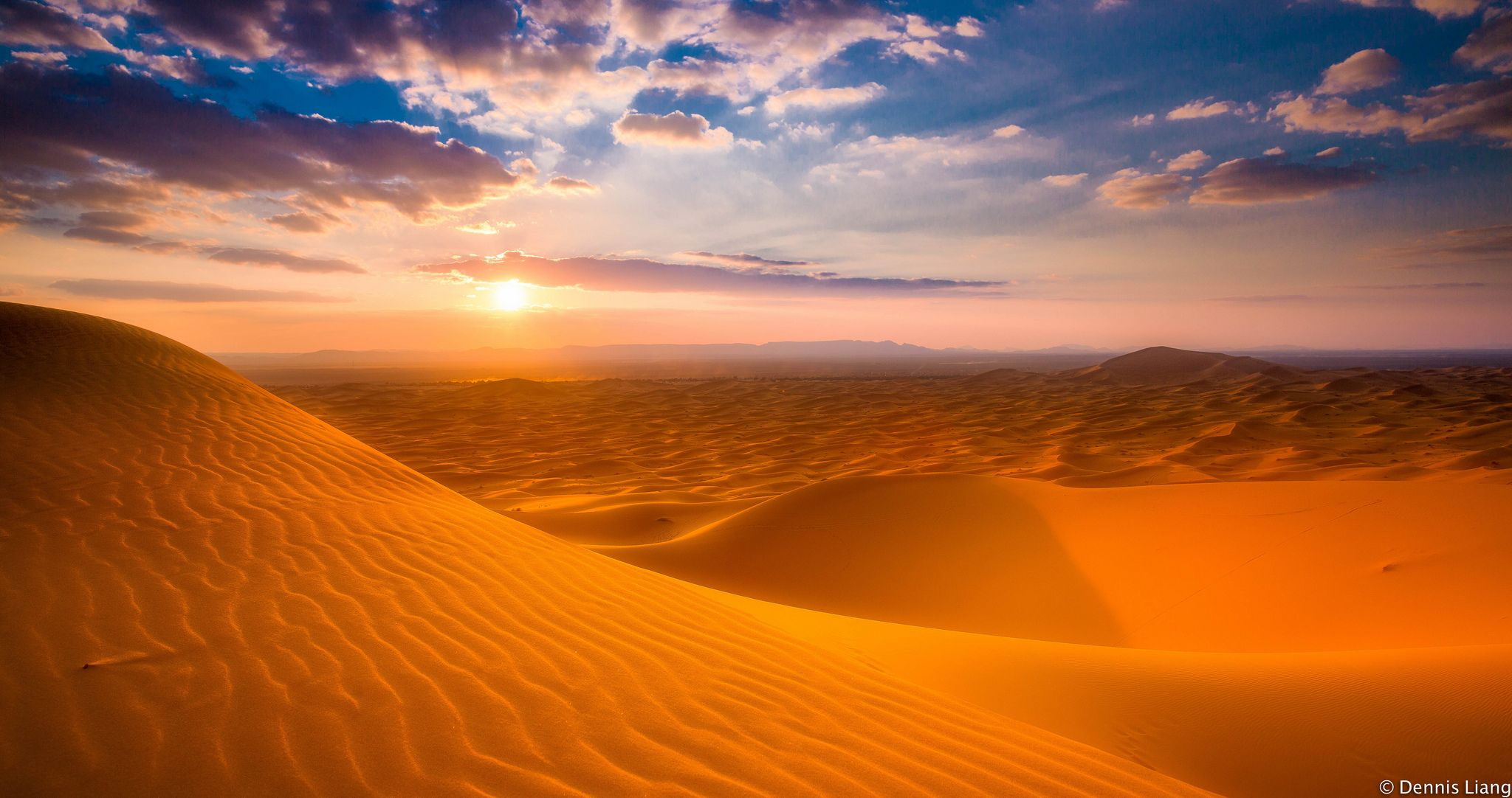 Erg Chebbi Sahara Desert Sunset Sunset Wallpaper Sunset