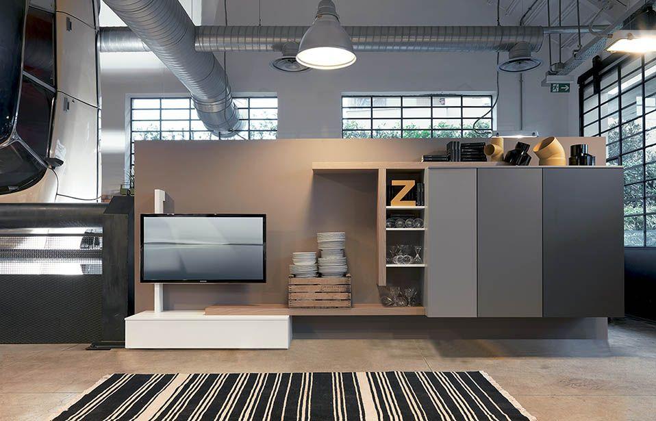 soggiorno design contenitori | Parete tv | Soggiorno moderno ...