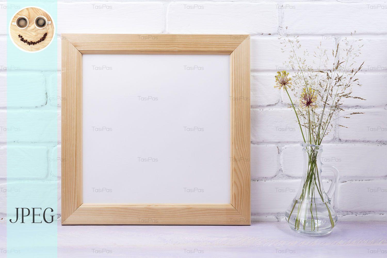 Wooden Square Frame Mockup Graphic By Tasipas Creative Fabrica In 2020 Frame Mockups Presentation Design Frame