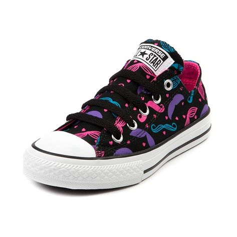 Shop for Girls Youth Converse All Star Lo Mustache Athletic Shoe in Black at Journeys Shoes. Shop today for the hottest brands in mens shoes and womens shoes at Journeys.com.The ever classic Converse All Star Lo hosting one insane stache bash--itll gonna be one for the (younger) ages! Canvas upper, rubber outsole. Available exclusively at Journeys and SHI!