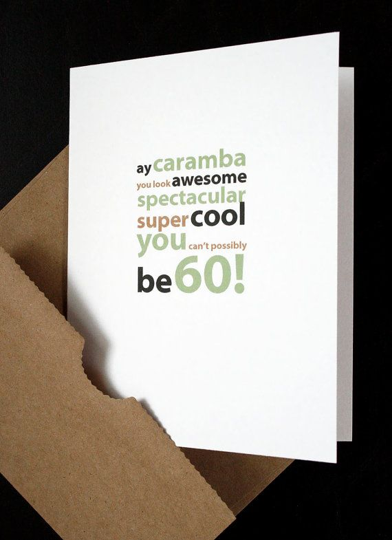 Happy 60th Birthday Card For Him Her Friend Husband Wife Mother Father Boyfriend Girlfriend Anyone Turning 60 By Allotria On Etsy