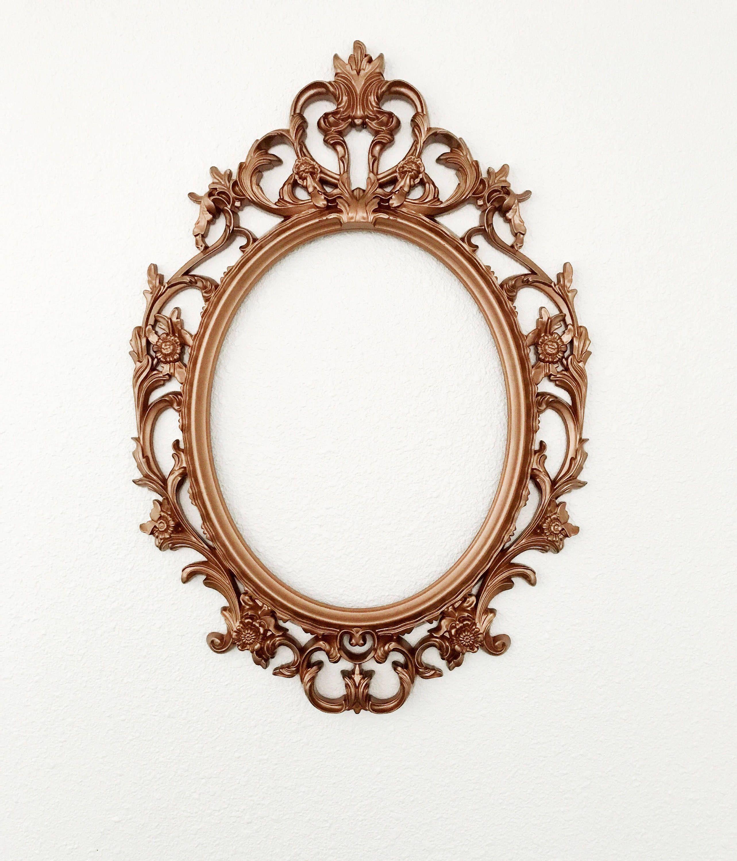2e16155e78d2d Copper Ornate Oval Frame