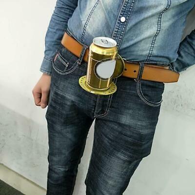 Mini Outdoor Metal Beer Head Belt Bottle Buckle Camping Picnic Wine Can Holder