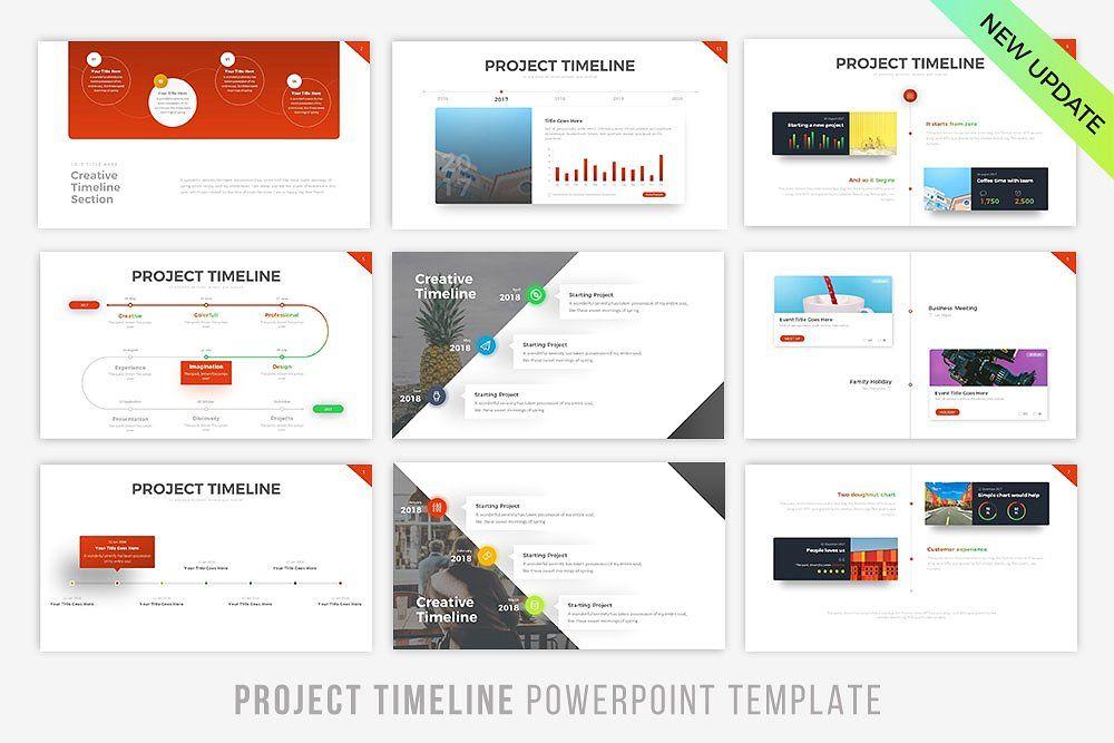 project timeline updated v 5 schemes color change pick vectors