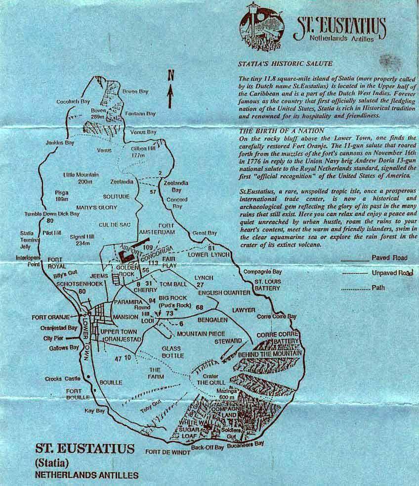 Sint Eustatius People St Eustatius Netherlands Antilles Map A