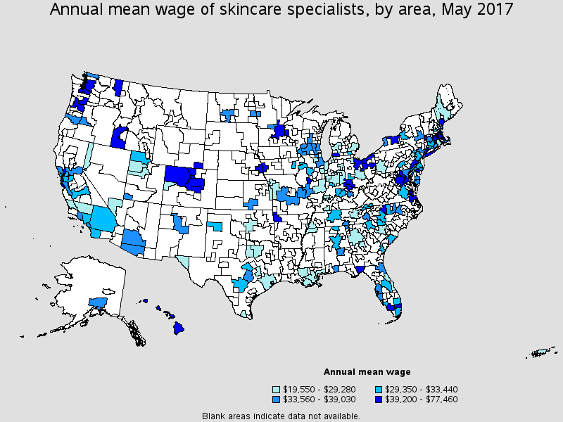 Skincare Specialists employment stats bls.gov Skin care