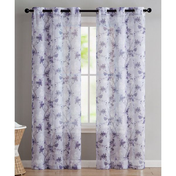Victoria Clics Plum Jasmine Curtain Panel 17 Liked On Polyvore Featuring Home Decor Window Treatments Curtains