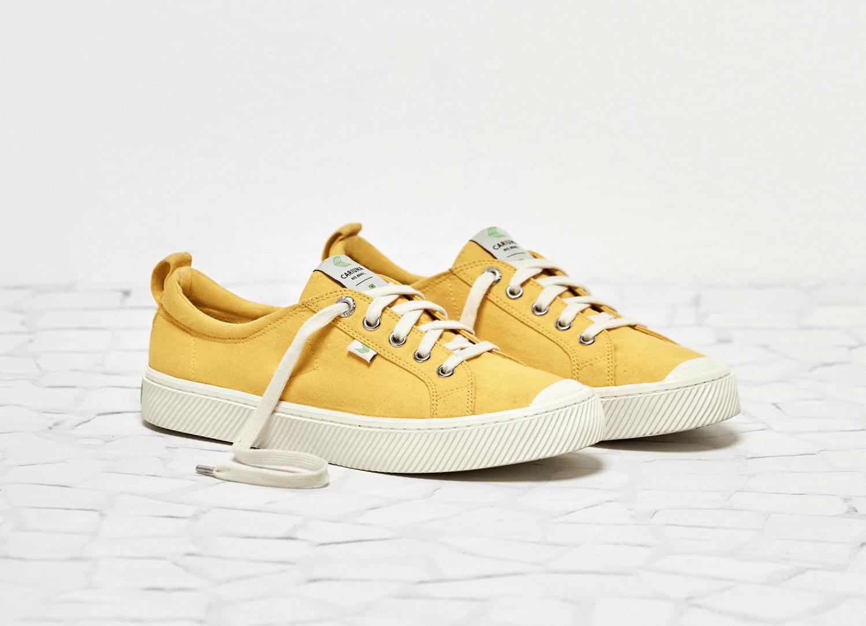 OCA Low Yellow Canvas Sneaker Women