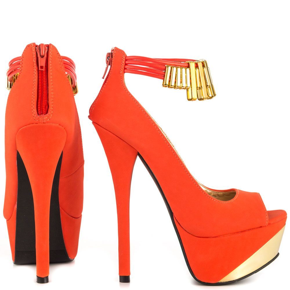 1000  images about Orange High Heels on Pinterest | Heels ...