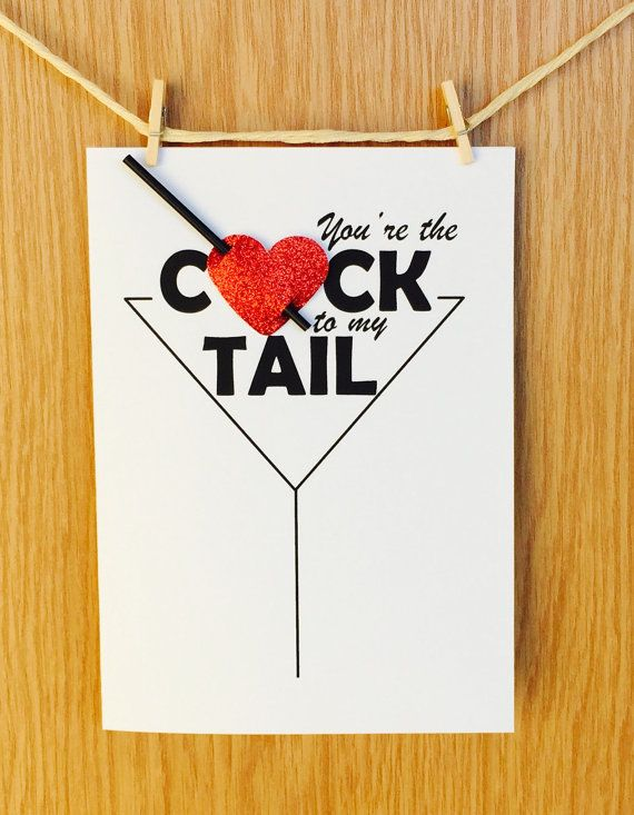 Funny Naughty Love Card Youre The Cock To My Tail Anniversary