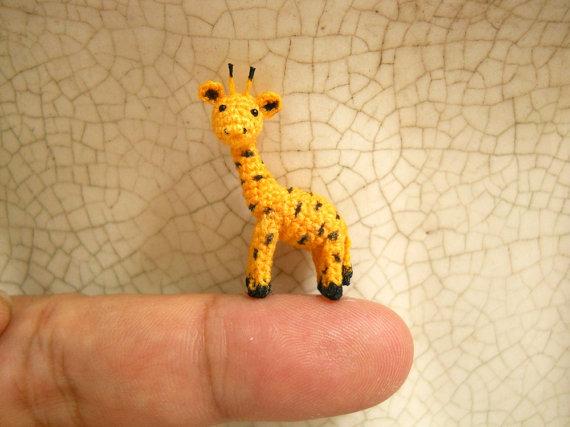 Mini Miniature Crochet Giraffe Tiny Amigurumi Miniature by SuAmi ...