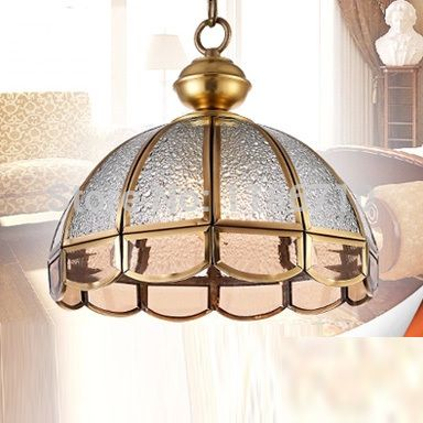 Factory direct sales of crystal chandelier copper lamp droplight american pastoral chandeliers and pendants and lanterns