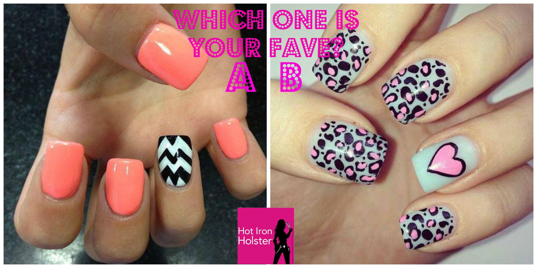 Chevron & Leopard manicures | Girly Stuff | Pinterest | Manicure ...