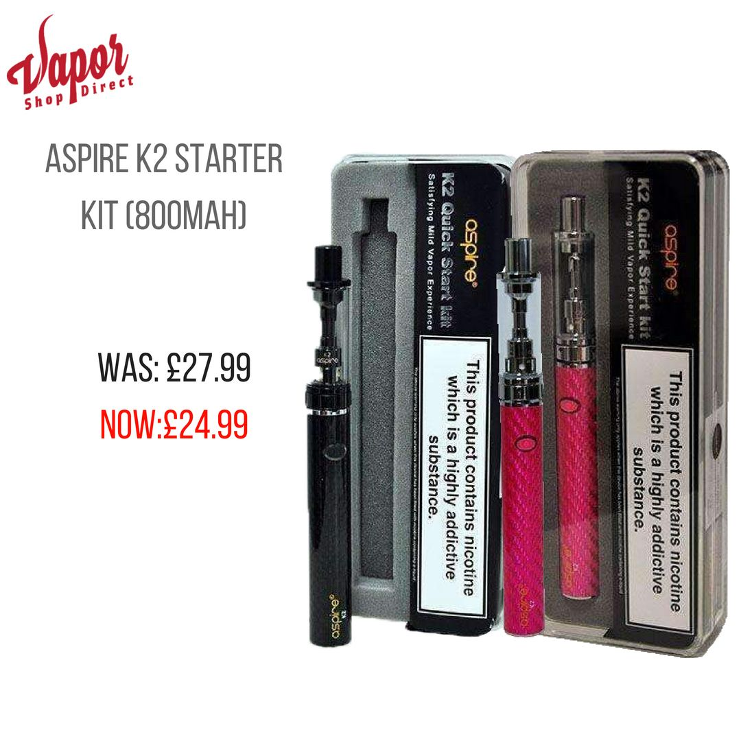 Aspire K2 Starter Kit Starter kit, Silver tank, Led ring