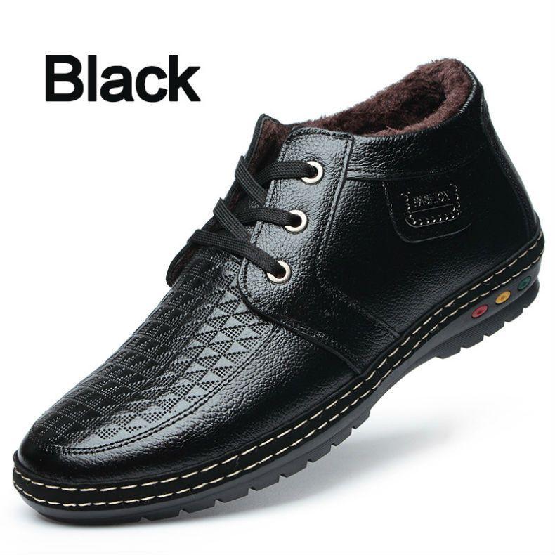 Winter Bimuduiyu With Up Boots Short Plush Casual Men's Lace Shoes XZAwXO
