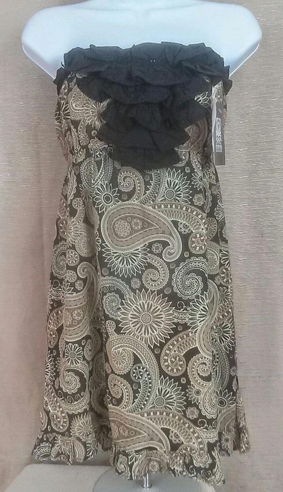 051fa85025 NWT Mud Pie Bag Lady Cover Up Strapless Bohemian Paisley Brown Blk Dress  Women.  MudPie  SundressBeachSundressStrapless  SummerBeach