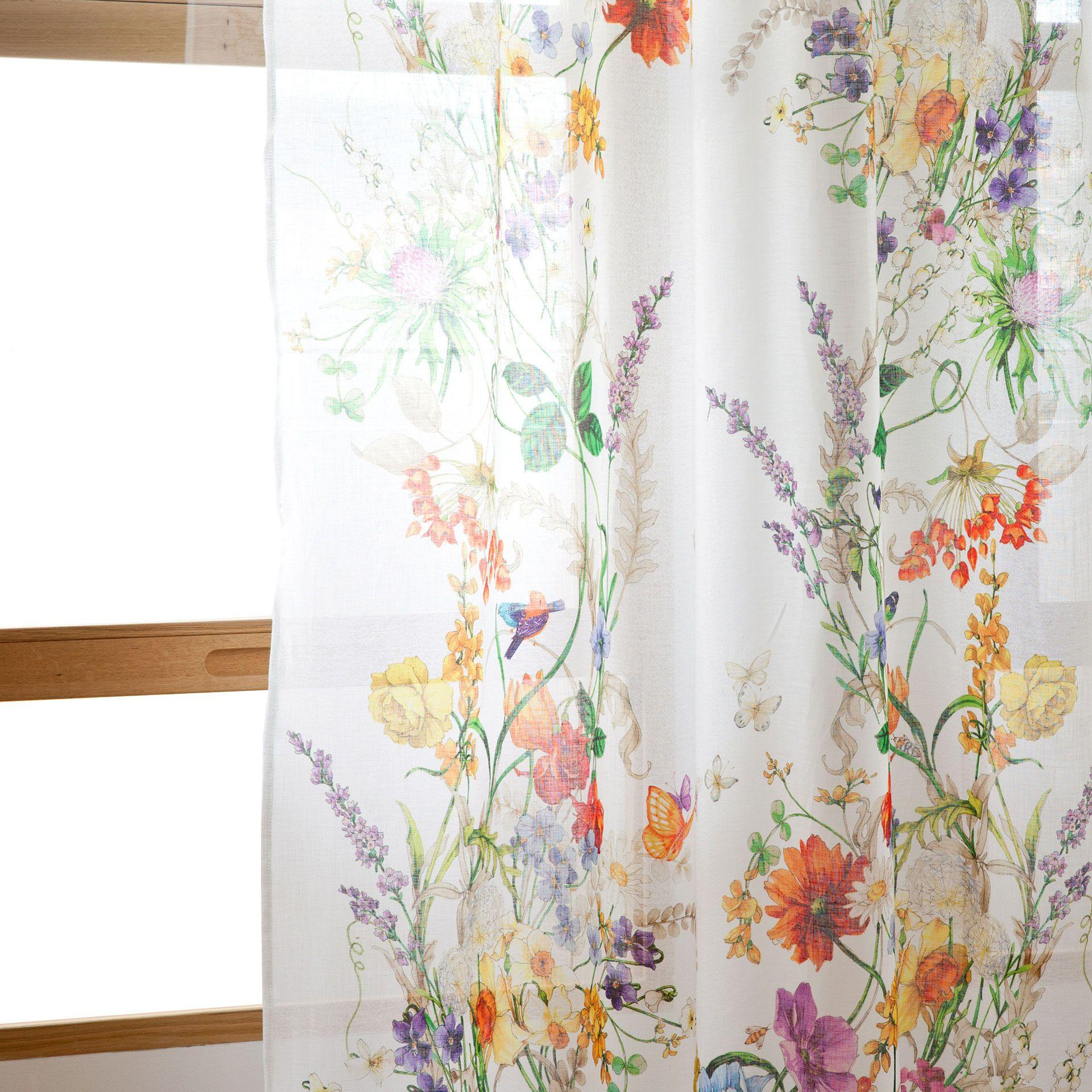 Perdea de in cu flori perdele decora iuni zara home for Zara home cortinas dormitorio