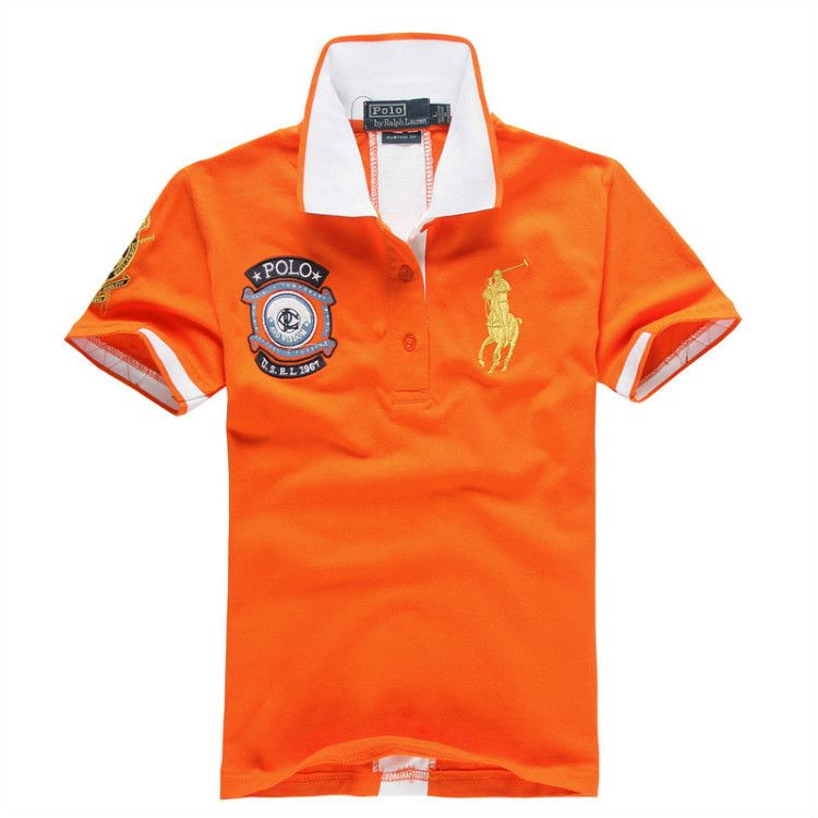 Ralph Lauren Men Green Orange Big Pony 3 Polo