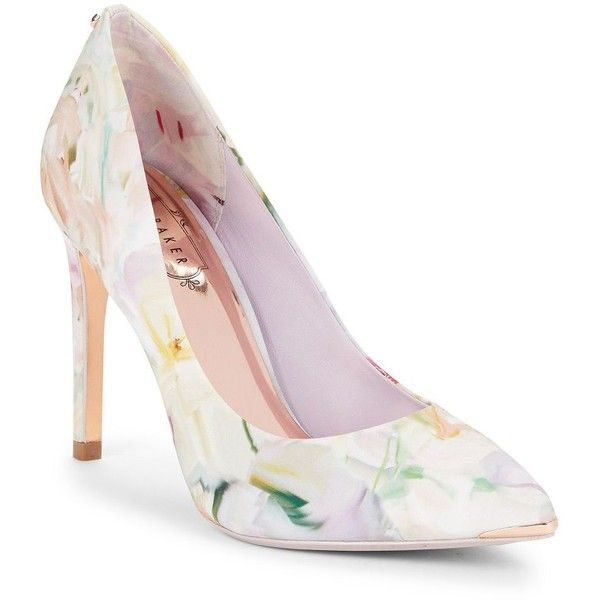 6f1fddc3c3b Ted Baker London Neevo Floral Point-Toe Pumps ( 56) ❤ liked on Polyvore  featuring shoes