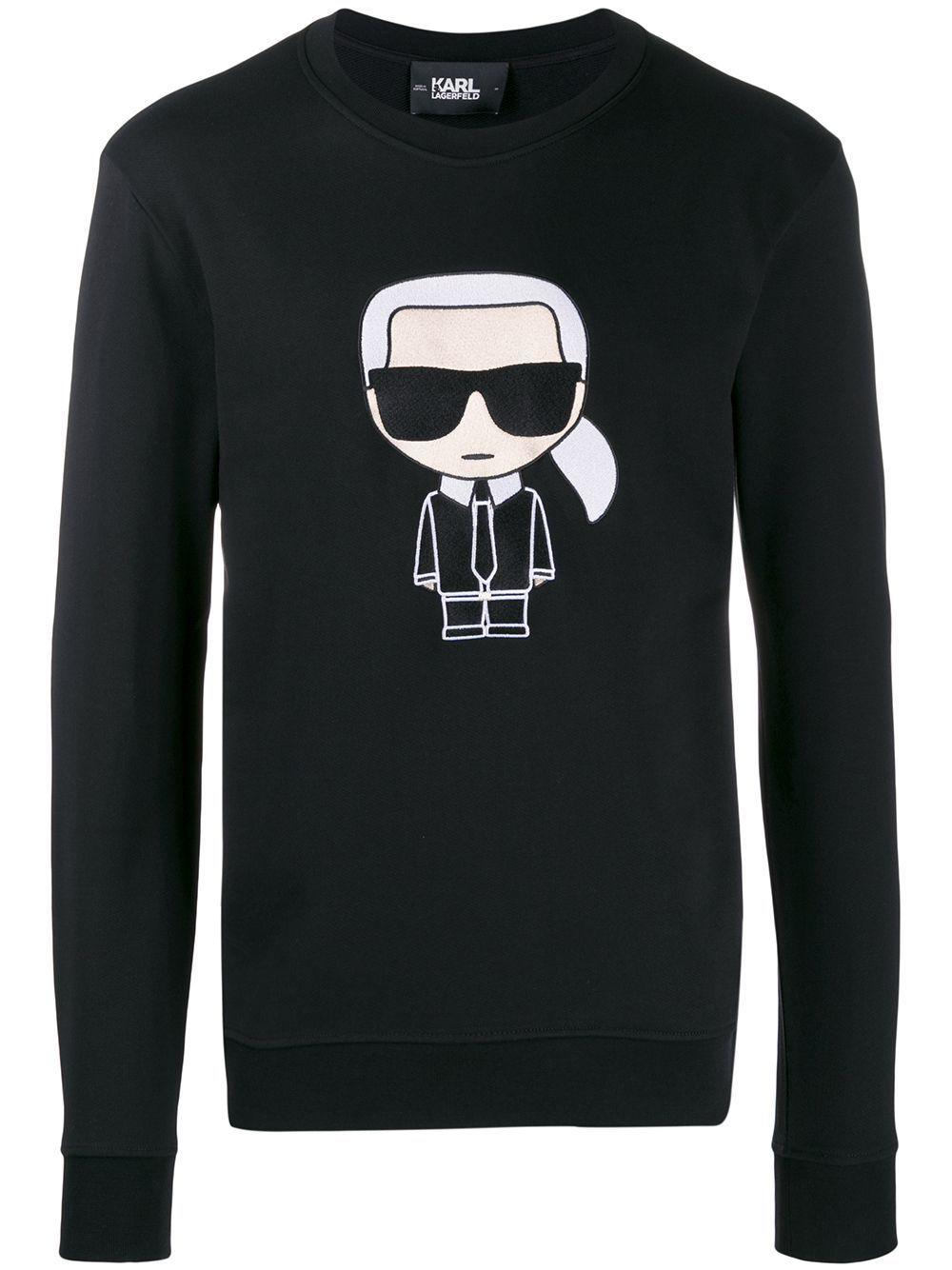 Karl Lagerfeld Ikonik Sweatshirt Farfetch Allwhiteclothes In 2020 Sweatshirts Simple Trendy Outfits Karl Lagerfeld