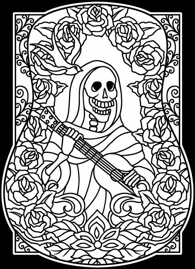 Related image | Day of the Dead coloring pages | Pinterest