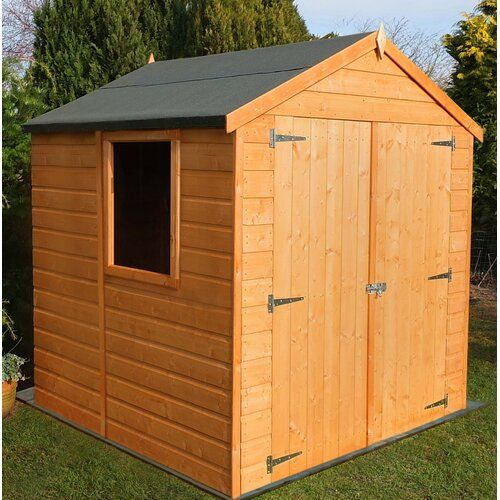 Sol 72 Outdoor 6 Ft W X 6 Ft D Shiplap Apex Wooden Shed House In The Woods Shed Shiplap Cladding