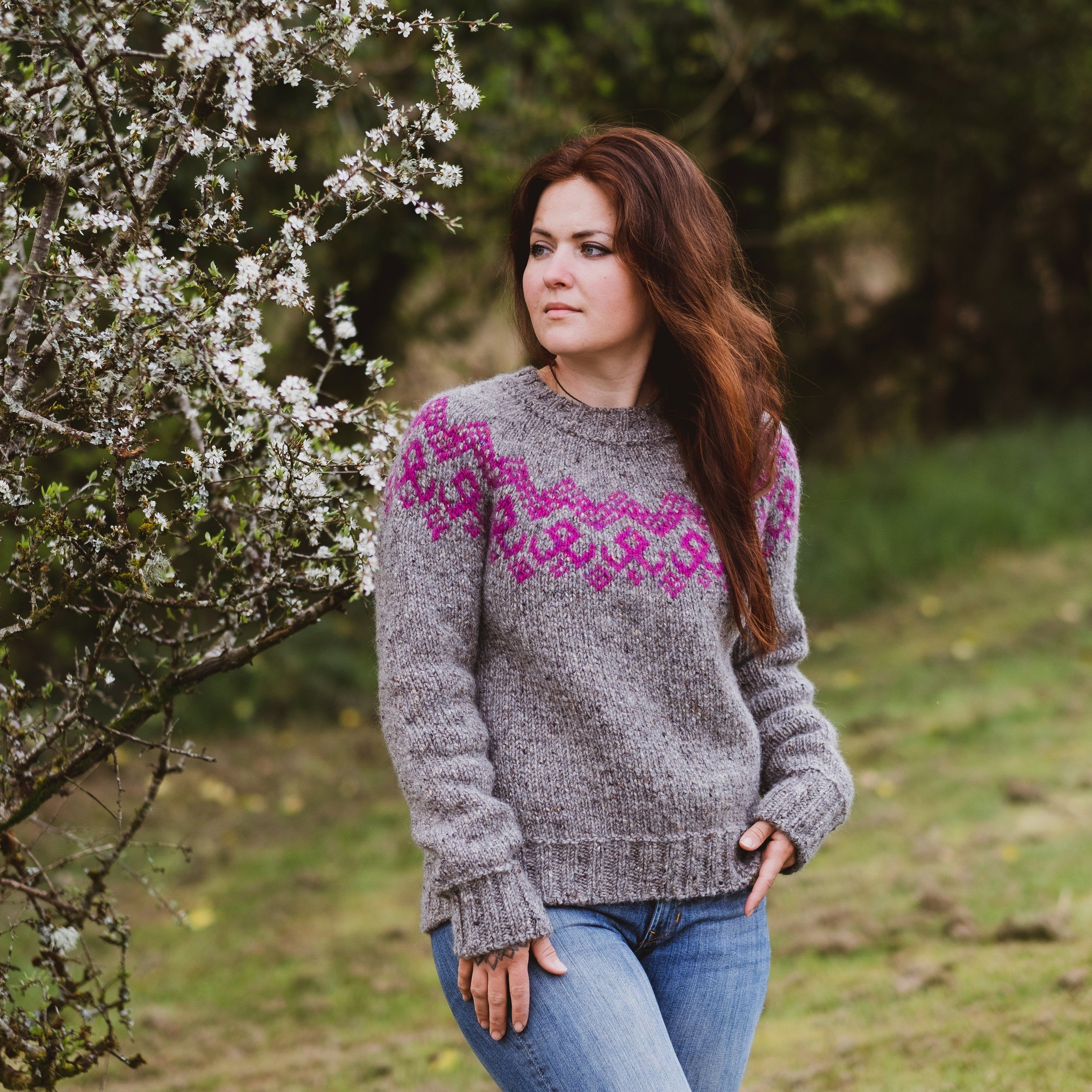 Rustic Pink Knitted Jumper