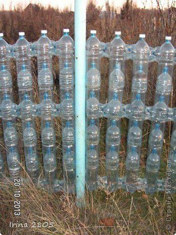 Ideas para el hogar cerco perimetral reciclando botellas for Ideas para jardin reciclado