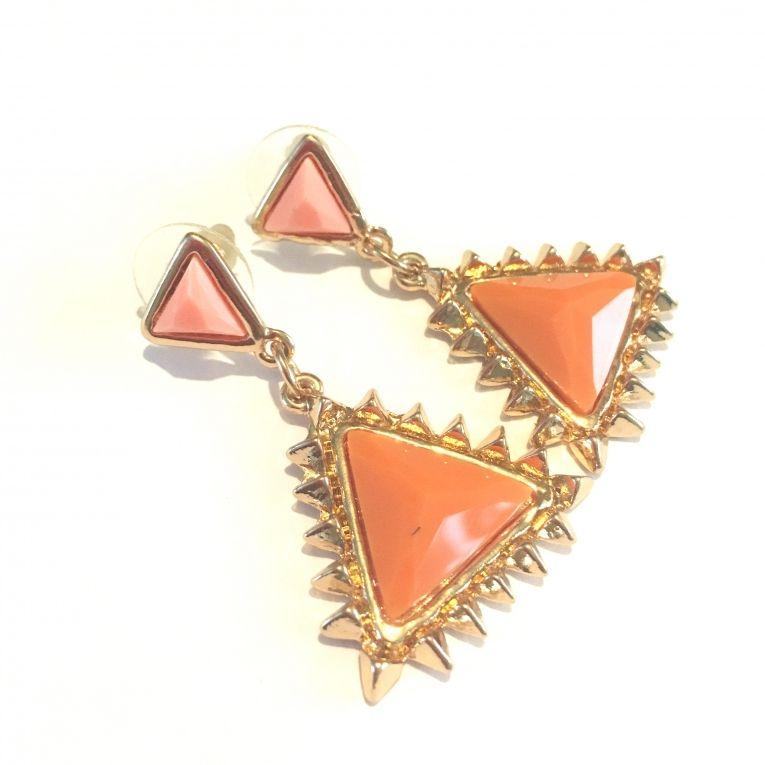 Oorstekers driehoek Peach & Pink