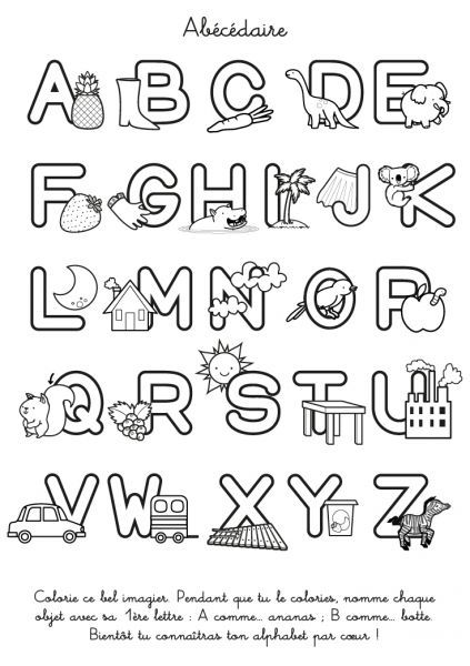 Coloriage Alphabet Francais.L Abecedaire A Colorier Activite Educatif Alpha
