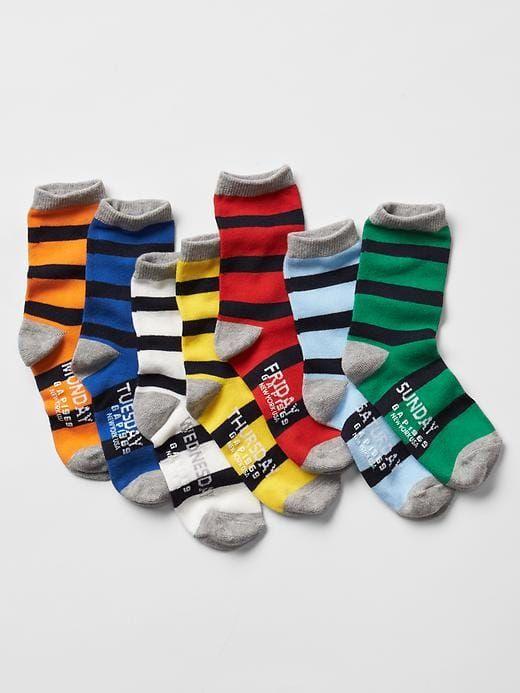 Days Of The Week Socks Kids Stripe Days Of The Week Socks 7 Pack Boys Socks Socks