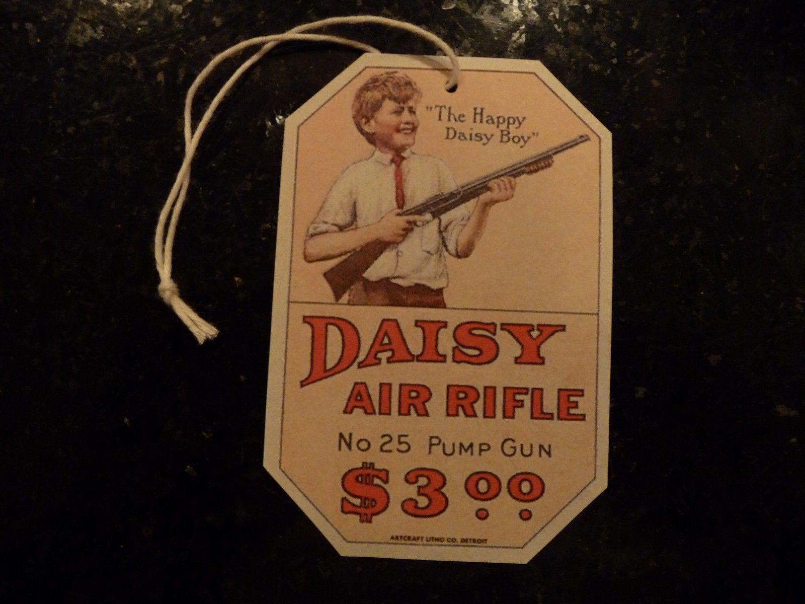Daisy Bb Pump Gun Early Model No plymouth Mi 25 Hang Tag Repro For Air Rifle