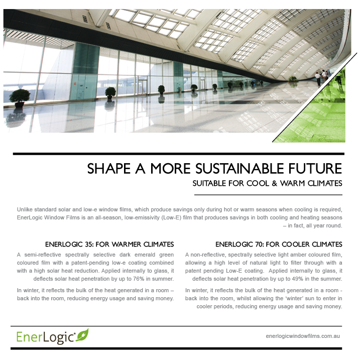 Enerlogic window films are shaping a more sustainable future