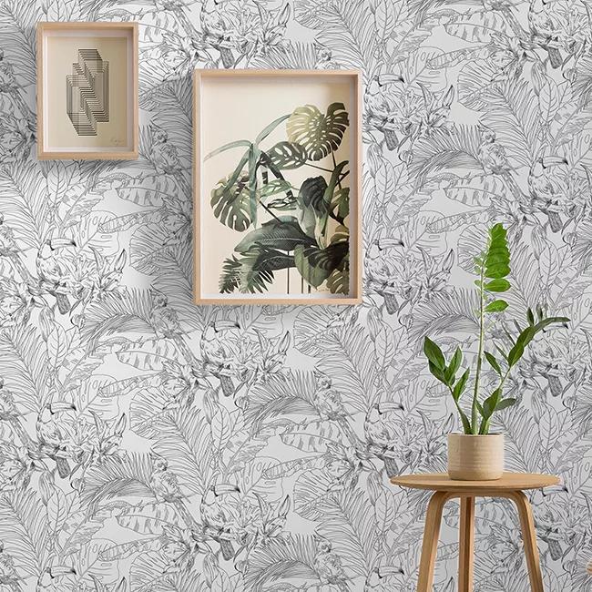 Tapeta Winylowa Na Flizelinie Goodhome Oophoric Szkic Tapety Dekoracyjne Castorama Gallery Wall Decor Wall