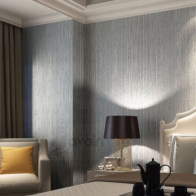 Vertical Texture Metallic Silver Faux Grasscloth Vinyl Modern Wall Paper Straw Glossy G Wallpaper Walls Bedroom Silver Textured Wallpaper Dining Room Wallpaper